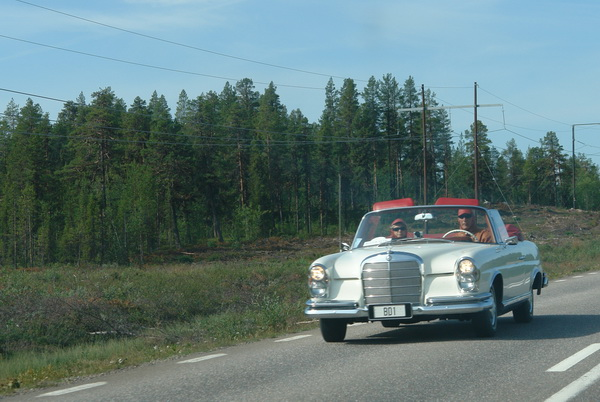Шведская Лапландия. Mercedes