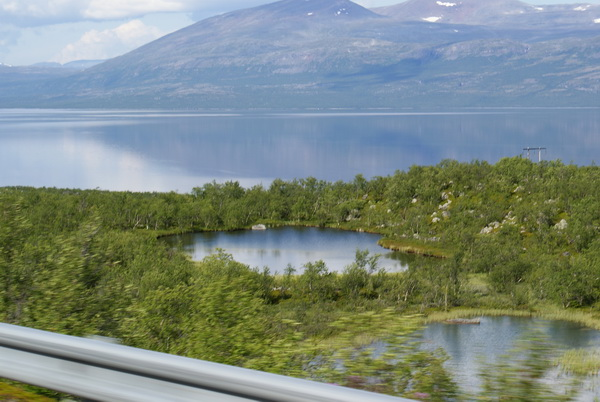 Шведская Лапландия. озеро Турнетреск, Абиско