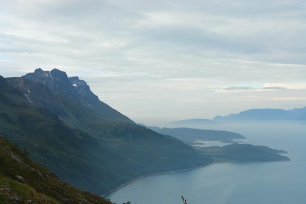 Перевал Гильдетун, Вид на Квананфьорд, Северная Норвегия, Тромс
