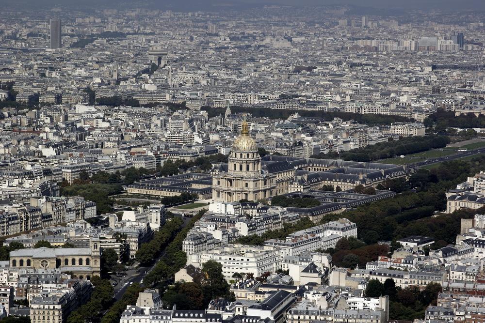 Париж, Вид на Отель Инвалидов сверху