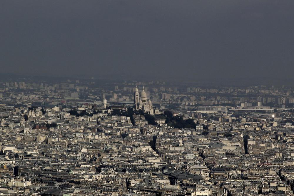 Сакре-Кёр и Монмартр. Вид с башни Монпарнас