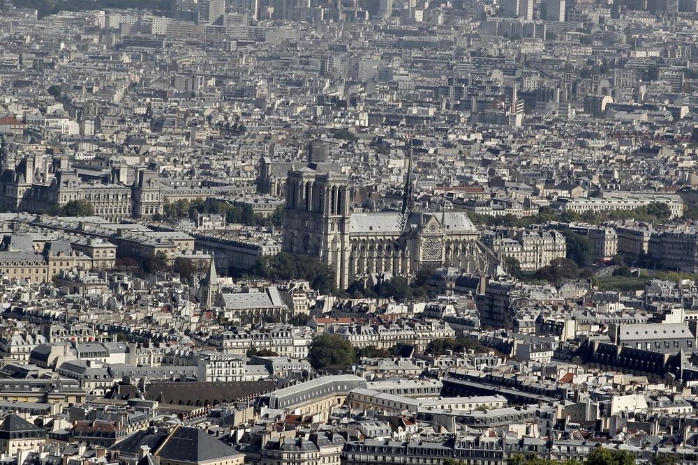 Нотр-Дам Вид с башни Монпарнас