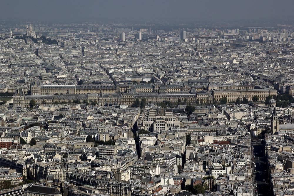 Лувр Вид с башни Монпарнас