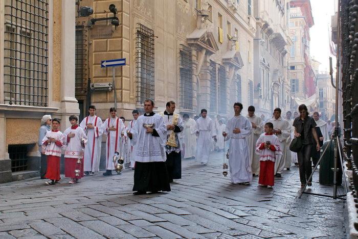 Италия, Генуя, Крестный ход