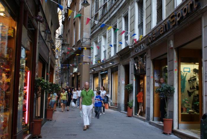 Италия, Генуя, улочки