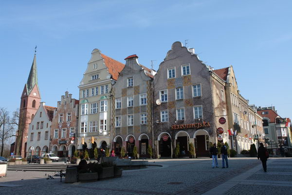 Ольштын, улицы старого города