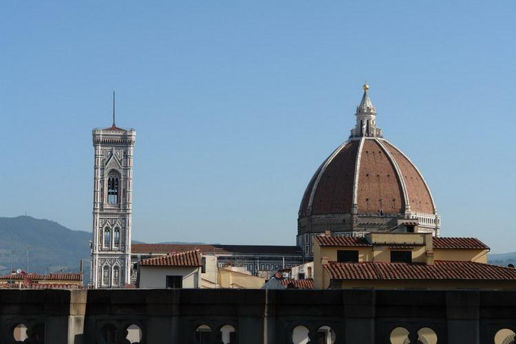 Флоренция, вид с крыши галереи Уфицци