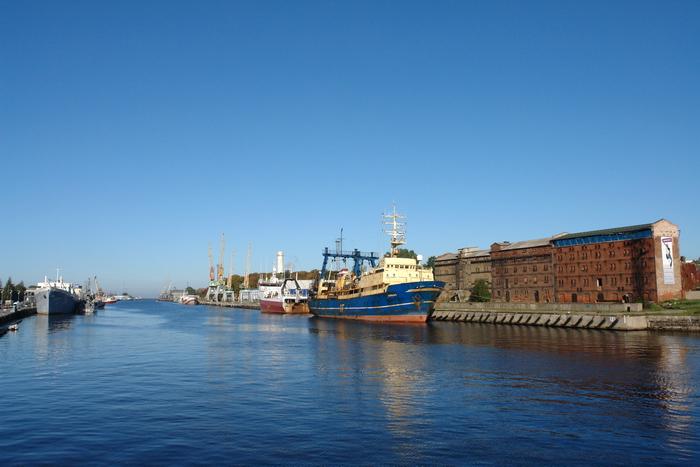 Латвия. Лиепая. В порту