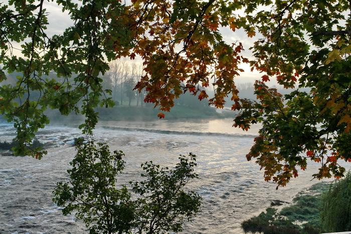 Латвия. Кулдига водопад Вентас-Румба