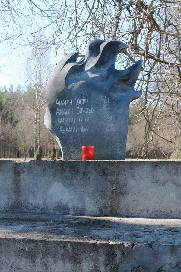 Мемориал в деревне Шуневка