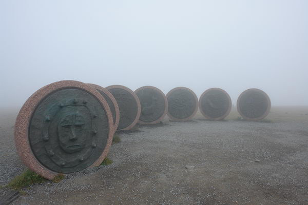 Мыс Нордкапп - самая северная точка Европы. Монумент Дитя мира