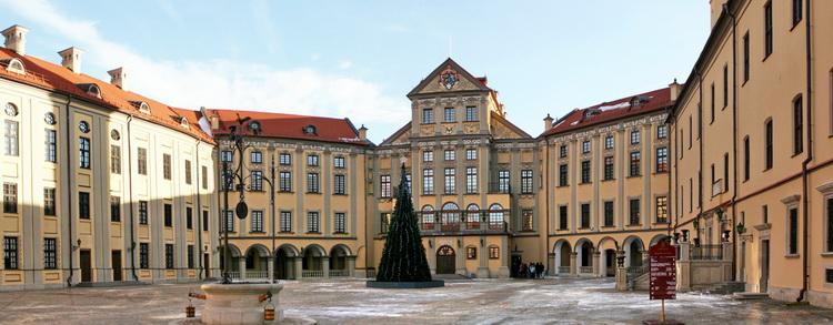 Панорама двора Несвижского замка