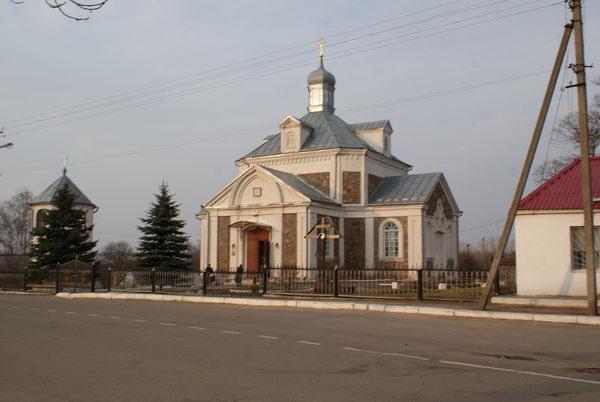 Наводнение в Белоруссии. Копыль. Вознесенская церковь