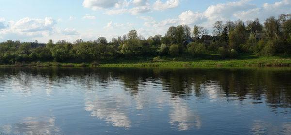 Друя, белорусско-латвийская граница. на том берегу бывший Придруйск, Пиедруя