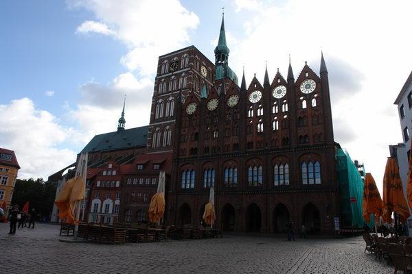 Ратуша фасад Штральзунд. Мекленбург – Передняя Померания