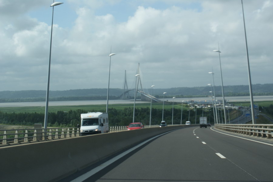 Франция, мосте через Эстуарий Сены