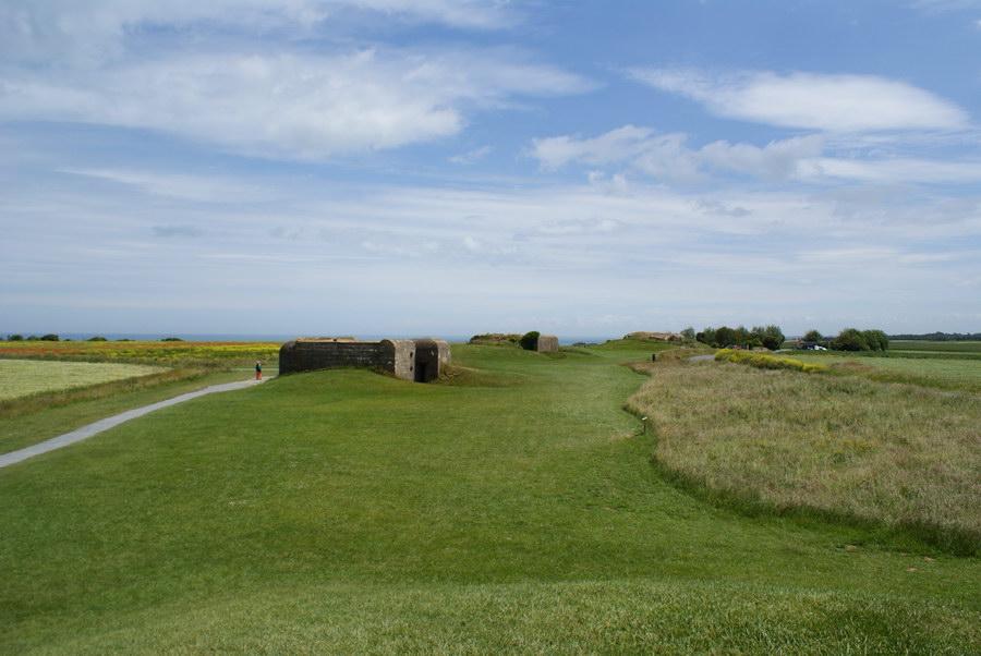 Франция, Нормандия, немецкая батарея береговой обороны около Омаха-бич