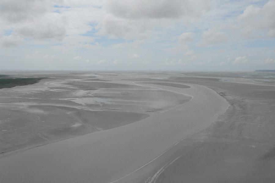 залив Мон-Сен-Мишель во время отлива