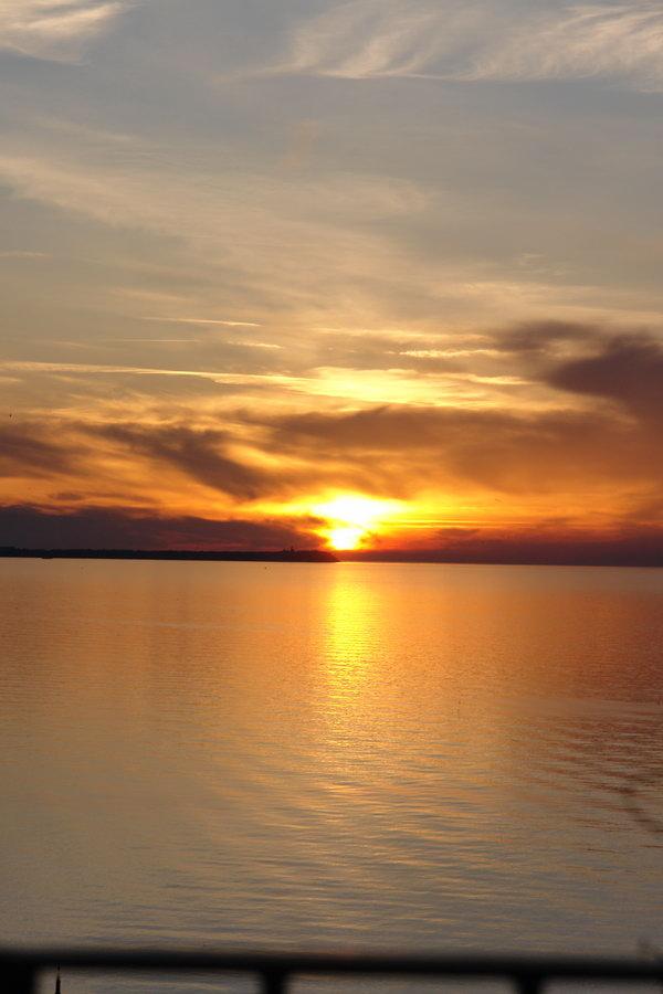 Закат на острове Рюген