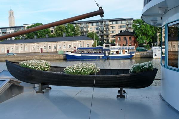 Финляндия. Турку. лодка