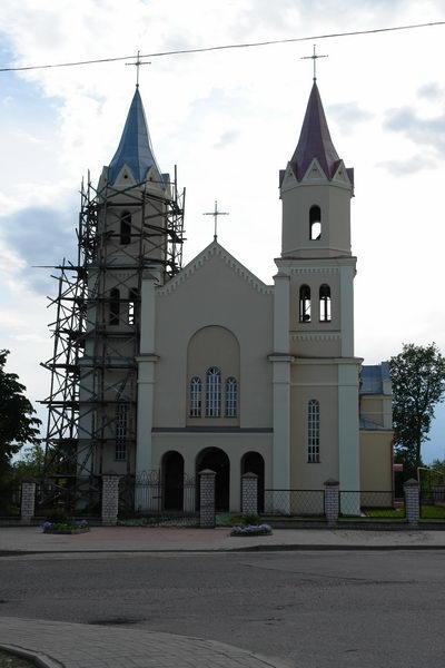 Костел в Першаях
