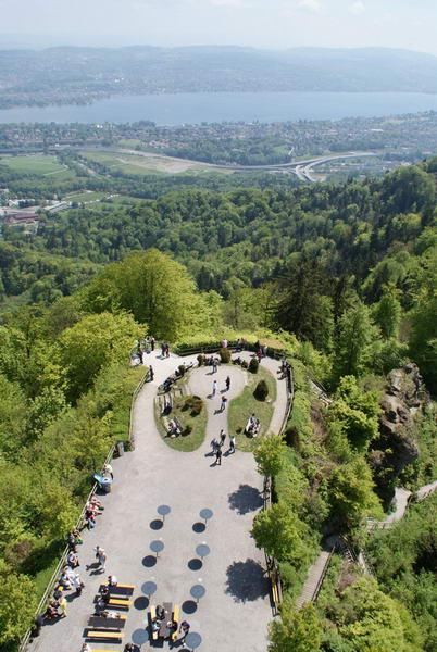 Цюрих Утлеберг, смотровая площадка, видна на Цюрих