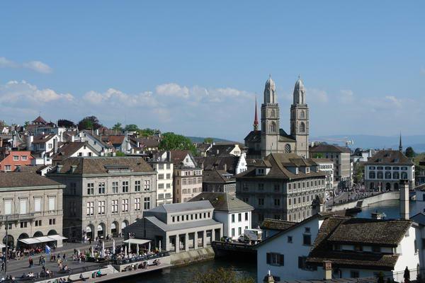 Цюрих, вид на центр города