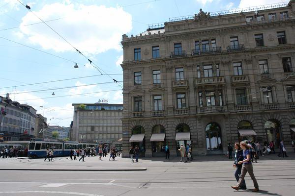 Цюрих, здания Credit Suisse и UBS